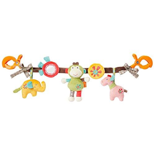 Fehn 074550 kinderwagenketting Safari – mobiele ketting met leuke figuren om op te hangen aan kinderwagen, babyschaal of kinderbed – voor baby's en peuters vanaf 0 maanden, lengte: 45 cm