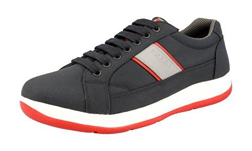 Prada Herren Mehrfarbig Stoff Sneaker 4E2987 OQ6 F0HGF 44 EU/UK 10