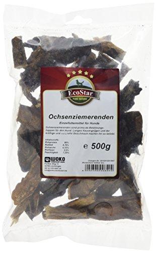 EcoStar Hunde Snack Ochsenziemerenden 500g, 1er Pack (1 x 500 g)
