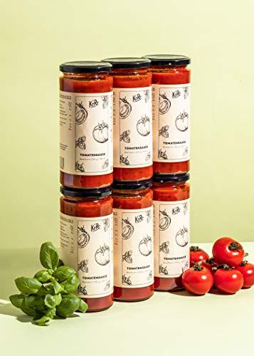 KoRo – Tomatensaus 6 x 530 g – Origineel uit Italië – Perfect voor pasta en pizza – Zonder toevoegingen – Veganistisch