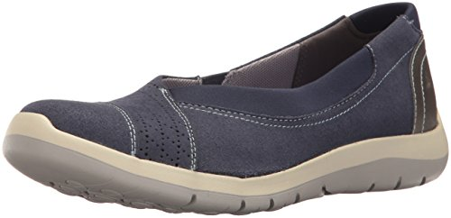 Aravon Women's Wembly Envelope Fashion Sneaker, Blue, 8.5 D US