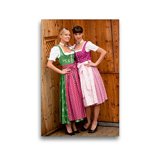 CALVENDO Premium Textil-Leinwand 30 x 45 cm Hoch-Format Bayerischer Dirndlkalender, Leinwanddruck von STphotography
