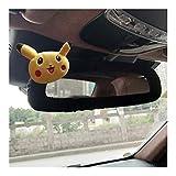 Housse de Volant de Voiture 1PCS Cartoon monstre de poche voiture Couvre volant mignon Pokemon Pikachu Seat Auto Ceinture Cache frein à main Accessoires voiture Universel (Color : Rearview mirror)