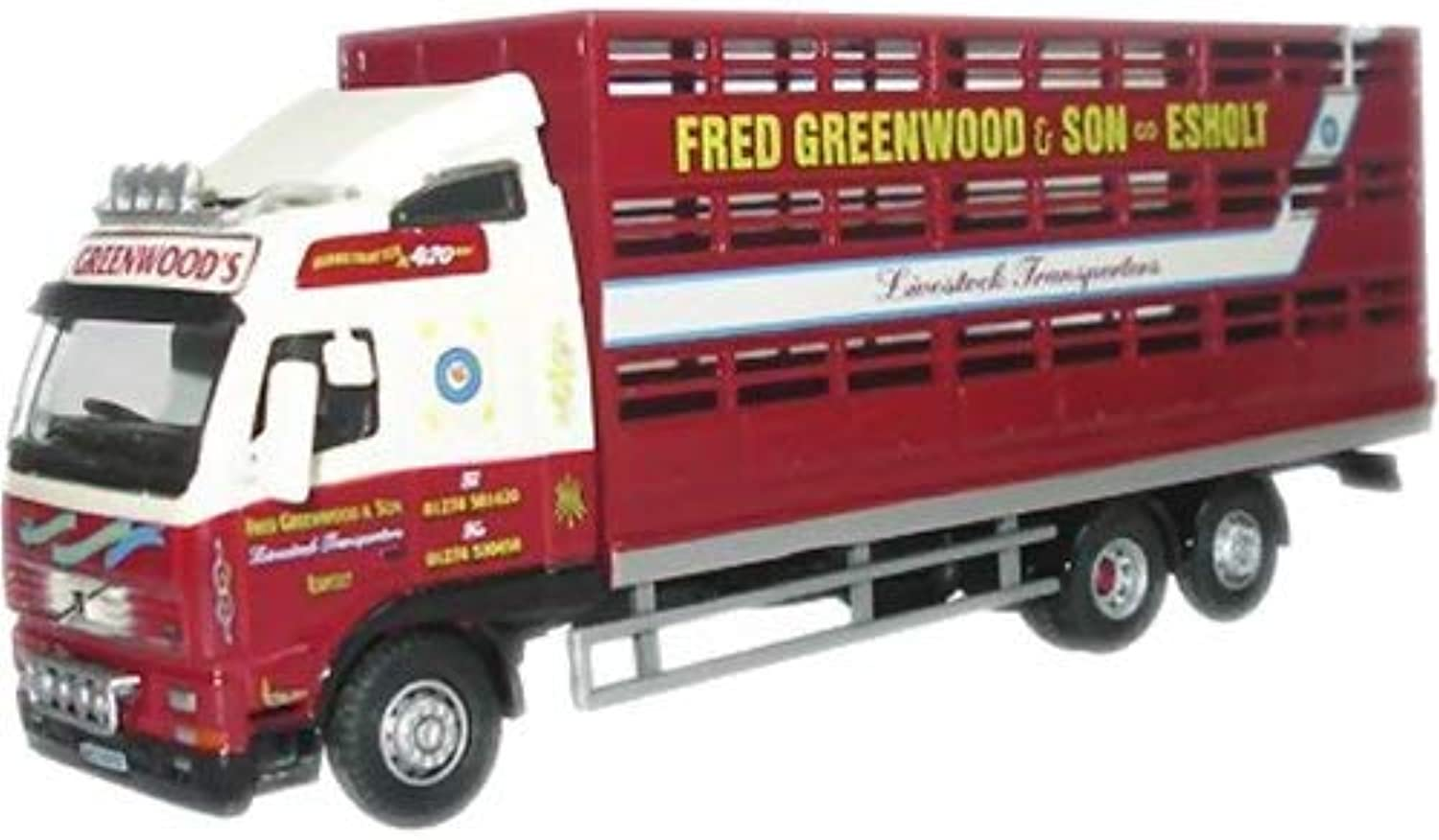 Oxford Diecast Fred Greenwood Volvo FH Livestock Lorry