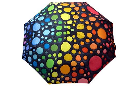 Springbok Eiffel Magic - Paraguas compacto de tamaño completo con botón de apertura y cierre automático