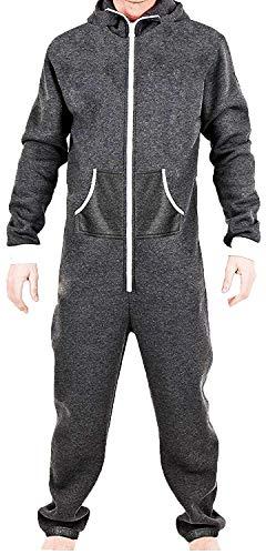 Juicy Trendz pour des Hommes Plaine Combinaison Une Pièce Tout en Un Jumpsuit, Carbone, S