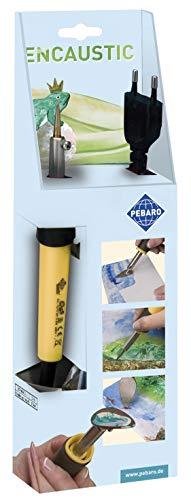 Pebaro Encaustic Pen mit 3 Aufsätzen zum Malen, Zeichnen und Schreiben mit Wachsfarben, für Anfänger geeignet, 30 x 9 x 4,5 cm