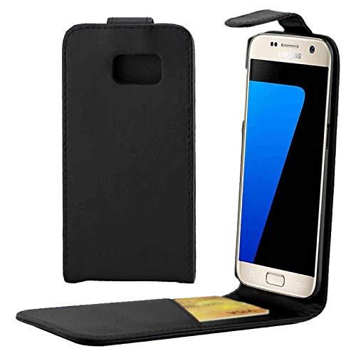 MDYHMC YXCY AYDD para Galaxy S7 Edge / G935 Litchi Texture Horizontal Flip Funda de Cuero con Soporte y tragamonedas y Billetera (Color : Black)