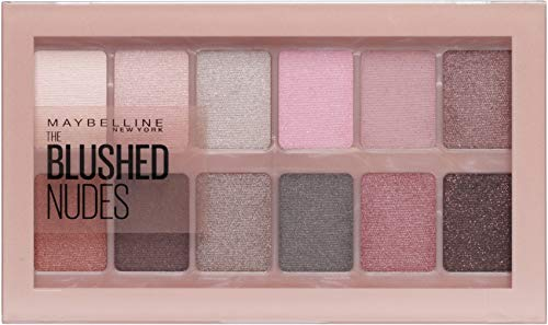 Maybelline New York Lidschatten Palette, The Nudes Palette, 12 Farben, Blushed Nudes