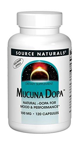 Source Naturals Mucuna Dopa 100mg Natural L-Dopa or Velvet Bean - 120 Veggie Caps
