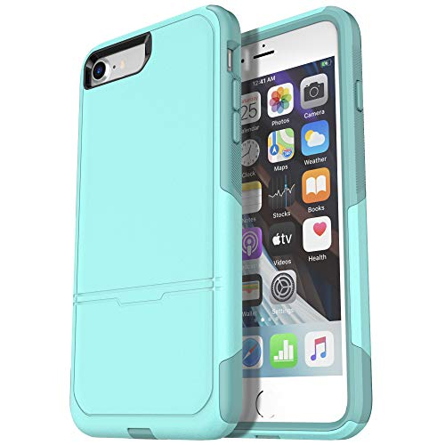 Krichit Pioneer Series Compatible with iPhone SE 2020 Case/iPhone 8 Case/iPhone 7 Case (IPHONE7/8SE, Aqua)