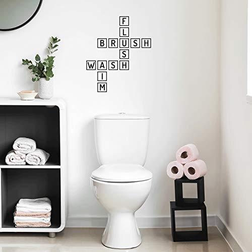 Vinyl Wall Art Decal – Bathroom Scrabble