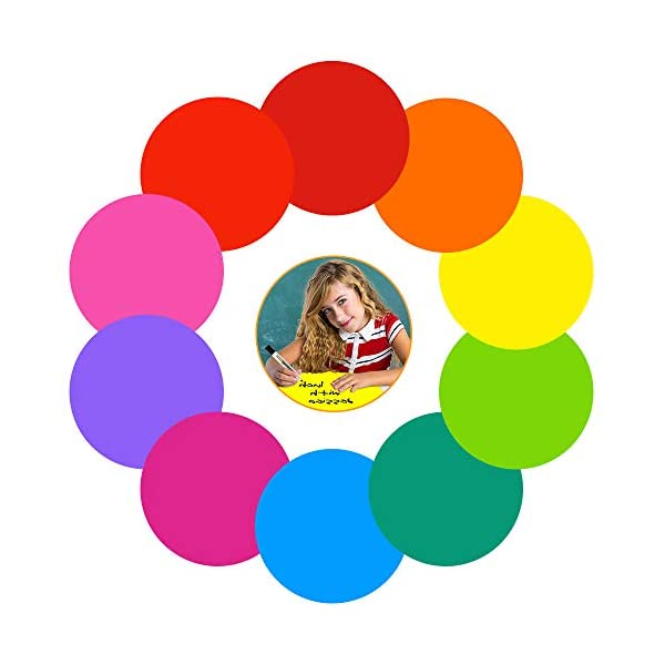 Colorful Dry Erase Dots Circles Whiteboard Marker Removable Vinyl Stickers Spots...