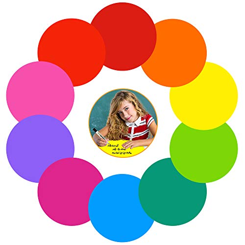 Colorful Dry Erase Dots Circles Whiteboard Marker Removable Vinyl Stickers Spots Wall Decals for School Classroom Teachers Students Table & Desk (10 Pack)