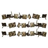 50 piezas alfileres antiguos de cabeza cuadrada, puerta de tapicería clavo cian bronce hierro chincheta clavo caja de caja antigua sofá sofá tachuela decorativa clavo cuadrado uñas 12-19mm(12x18mm)