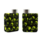 rayley Silicone case for Vaporesso Swag 2 80W TC Kit case Skin Cover Decal Protective Stickers (Skull-Green)