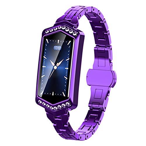 ZYDZ IP67 A Prueba de Agua B78 Smart Watch Ladies Aptitud Pulsera Tasa de corazón Rastreador Monitor Monitor Pedómetro de presión Arterial Bluetooth para Android iOS Pulsera SmartWatch,D