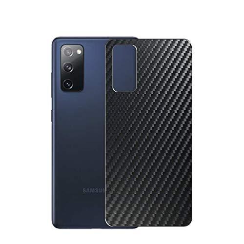 VacFun 2 Piezas Protector de pantalla Posterior, compatible con SAMSUNG GALAXY S20 FE 5G, Película de Trasera de Fibra de carbono negra