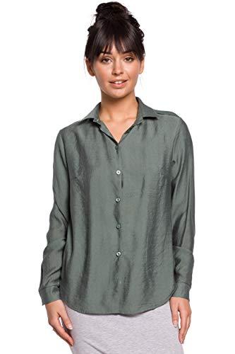 Be wear Hemd mit Schulterklappen - Minze, 38  M.