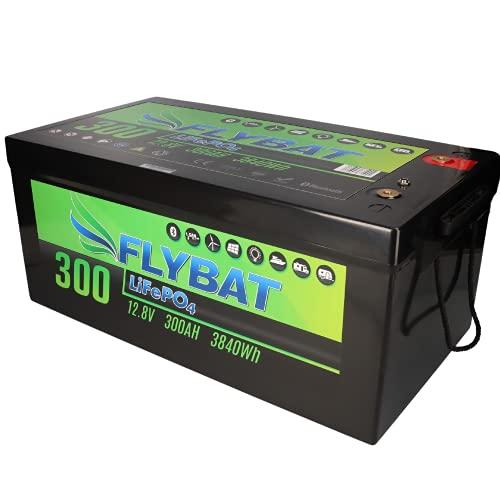 Batería LiFePO4 de 12 V (12,8 V) y 300 Ah, incluye Bluetooth y batería de alimentación CanBus para barco, yate, caravana, etc.