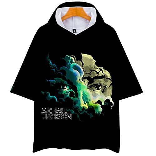 Michael Joseph T-Shirt Anime Logo T-Shirt Videospiele Cosplay Tee Film Fans Neuheit T-Shirts Unisex Beiläufig Gedruckt Kurzarm Geschenk zum Junge Mädchen Herren Damen,Schwarz,XL