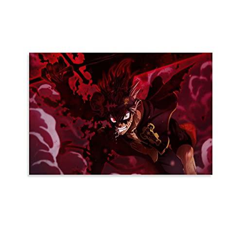 WIWIWI Anime Black Clover Astar - Póster decorativo con espada de demonio roto (30 x 45 cm)