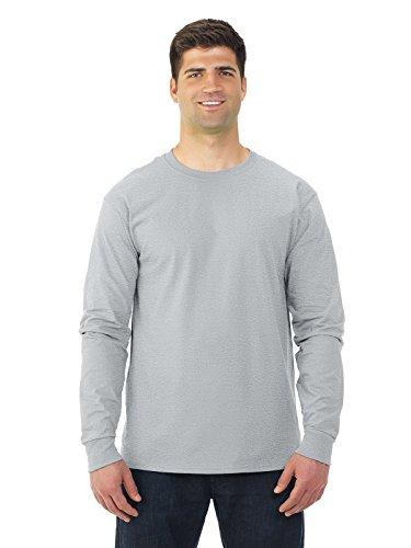 Fruit of the Loom Adult 5 oz. Long-Sleeve T-Shirt, Ash, 2X