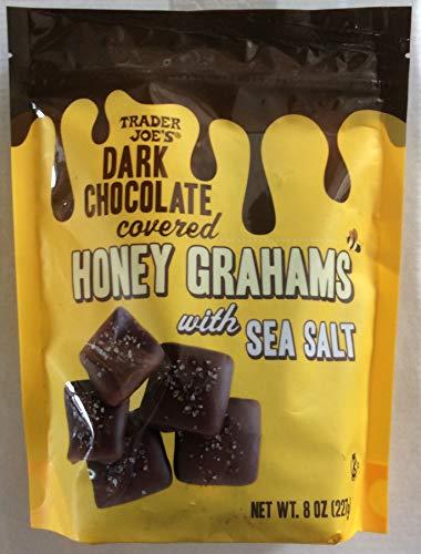 Trader Joe's Dark Chocolate covered Honey Grahams with Sea Salt