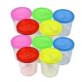 SXCYU 10 Unids/SetTaza Transparente de Plástico Espesado para Mascotas Pequeñas Taza de Medusa Tanque de Pescado Pequeño Contenedor Transparente Pez Betta, Aleatorio