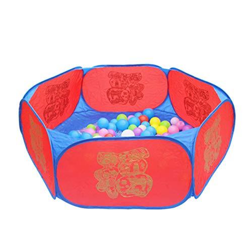 Color Yun Corralito Plegable para bebés Hexágono Bolas de la Buena Fortuna Piscina Interior Exterior Niños Juego de Juguete para bebés Casa de Juegos Regalo para niños Tienda de campaña