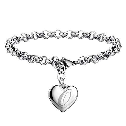 Pulsera ajustable en forma de corazón para el día de la madre, regalo para mujeres y adolescentes, talla única, Metal, Piedra solar de cobre,