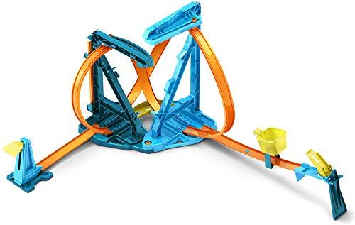 Hot Wheels Pack looping infinitos 2021, pistas de coches de juguete para acrobacias 2 en 1, incluye 1 vehículo (Mattel HBY98)