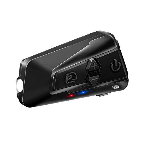 LEXIN G16 Intercomunicador Casco Moto Bluetooth 5.0 con Compartir música, Radio FM, 1-16 Motocicletas Comunicación Sistemas de Reducción de Ruido con Alcance de 2000M para Motocicleta Universales