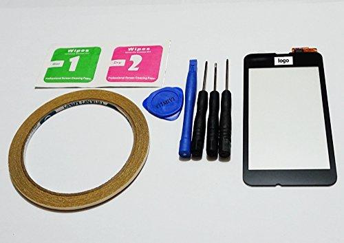 MIYI® Nuovo Nero Touch Screen Vetro Digitizer Schermo Ricambio Per Nokia Lumia 530 + Adesivo + Kit tools + Kit di pulizia
