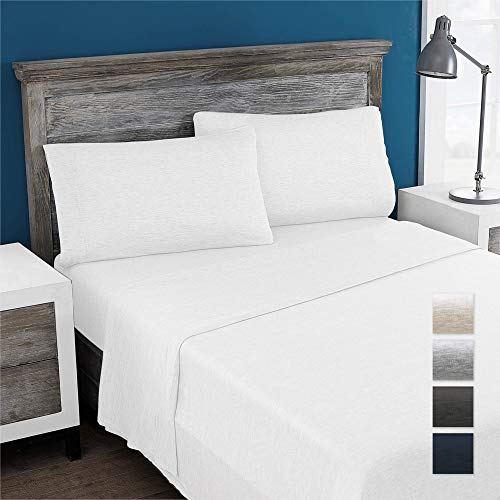 Columbia Eco-Friendly 100% Modal Jersey Knit Performance 3-Piece Sheet Set - Omni-Wick Stay Dry Technology – Incredibly Soft, Stretchy, Cool and Comfortable - Twin, White