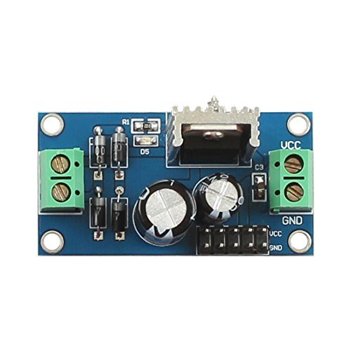 DollaTek L7805 Regulador de Tres terminales LM7805 Módulo regulador 5V
