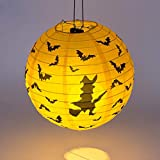 TTYAC Halloween Papierlaternen Chinesische Laterne Papier Lampion Hochzeit Babyshower Party Halloween Hanging DIY Decor Favor # 15, Print, 20cm