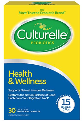 Culturelle Health & Wellness | Daily Probiotic Supplement | Immune Support | With the proven effective Probiotic | 15 Billion CFU | 30 Vegetarian Capsules