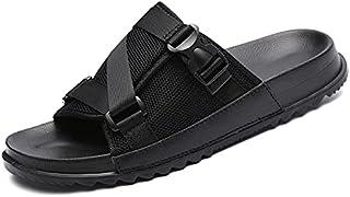 SssabInnasnslx أحذية استحمام رجالية شباشب للرجال، أحذية كاجوال مسامية، شباشب للشاطئ في الهواء الطلق، صنادل عصرية ومريحة (ا...