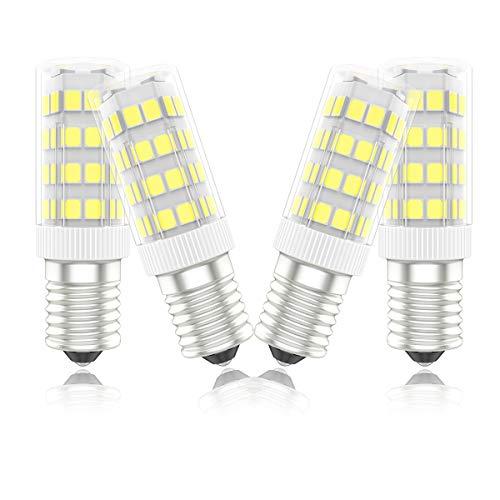 Phoenix-Bombillas LED E14 Campana Extractora,Bombilla Nevera 5W,40W Halógena Equivalente, Blanco Frío 6000K, 450lm,Pack de 4 Unidades