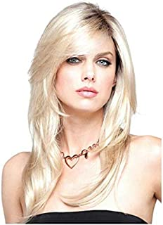 WIG Women's Long Wavy Straight Hair Synthetic Full Wig White Gold Mix Natural Cosplay Party Wigs-xx