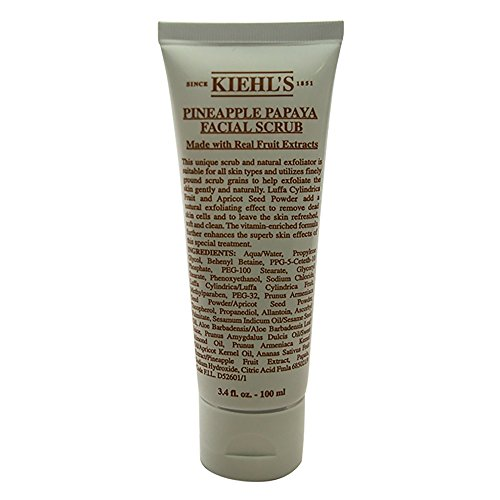 Kiehl's Pineapple Papaya Facial Scrub With Real Fruit Extracts, 3.4 Ounce