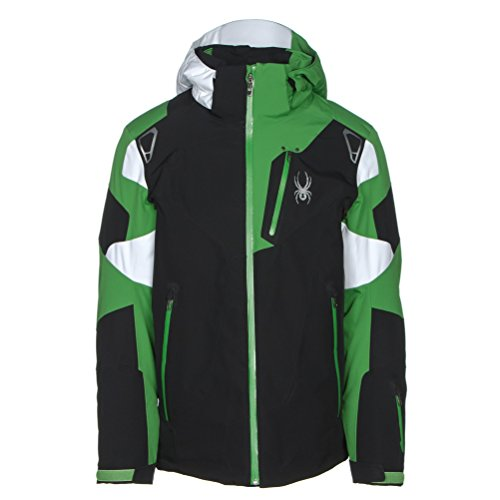 Spyder Men's Leader Jacket, Black/Blade/White, Small
