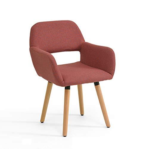 LJZslhei Stuhl Massivholz Stuhl Einfache Moderne Computer Stuhl Kreative Zurück Schreibtisch Stuhl Freizeit Home Stuhl Esszimmer Stuhl Rot Und Blau Plaid