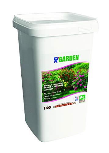 R'Garden - Concime Organico per Rose e arbusti di Fiori, Fertilizzante Naturale, nutriente in profondità, Facile da Usare, 1 kg
