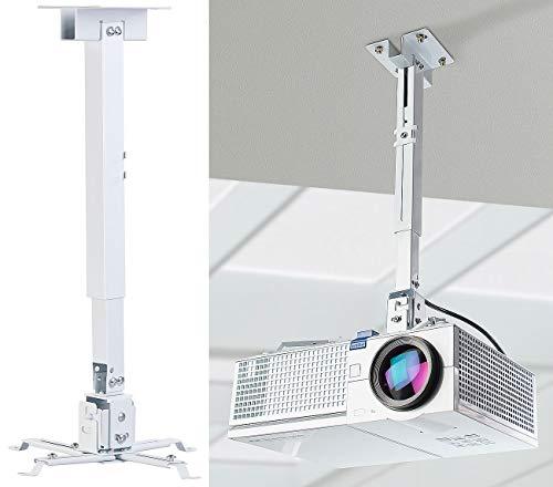 dream audio Beamer Deckenhalterung: Universal-Wand- und Decken-Halterung für Beamer, 43 bis 65 cm Tiefe (Beamer Wandhalterung)