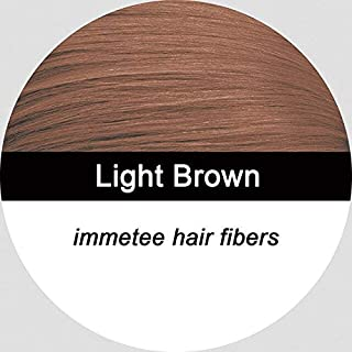 Shreeyas Hair Me 12g+comb hair building fibers powder black dark brown med brown light brown blond 12 colors fibers hair loss : light brown