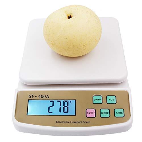 Digitale fruit, keuken, dieet, elektronische weegschalen met achtergrondverlichting, 10 kg x 1 g.