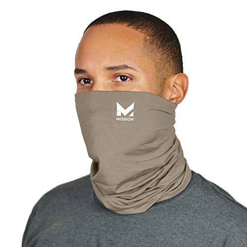 Mission Cooling Neck Gaiter Customize Your Coverage, Face Mask, Cools when Wet- Sand