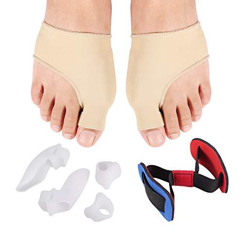 Tailors Bunion Corrector Protector Sleeves Kit -Treat Pain in Hallux Valgus, Tailors Bunion, Big Toe Straightener, Hammer Toe, Orthopedic Bunion Corrector Aid Surgery Treatment(7pcs)
